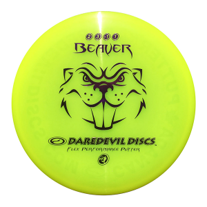 Daredevil Disc Golf Disc kopen Flexible Putter FP Beaver Yellow disc golf scheibe kaufen