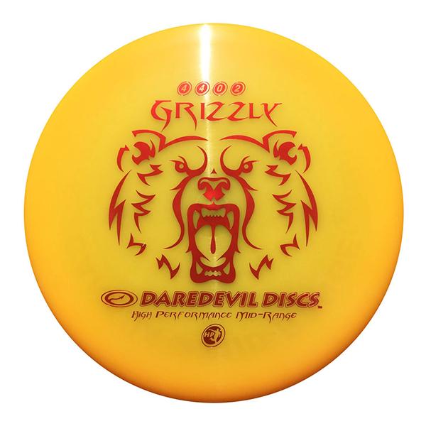 Daredevil Disc Golf Discs HP Grizzly orange Midrange disc golf disc