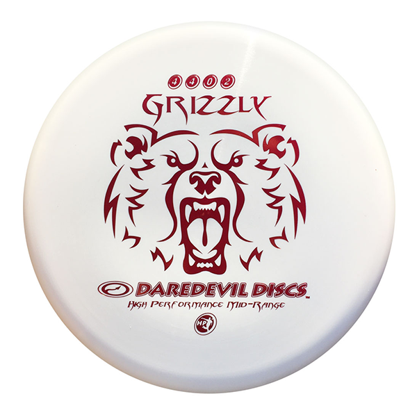 Daredevil Disc Golf Discs HP Grizzly white red print Midrange disc golf disc