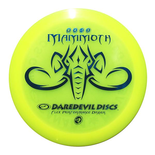 Daredevil Disc Golf distance driver frisbee kopen Flexible FP Mammoth Yellow