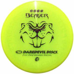 Daredevil_beaver_Flex_Performance_Disc_Golf_Frisbee_Putter_yellow