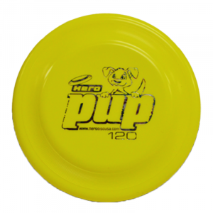 Hero Pup 120 yellow dogfrisbee