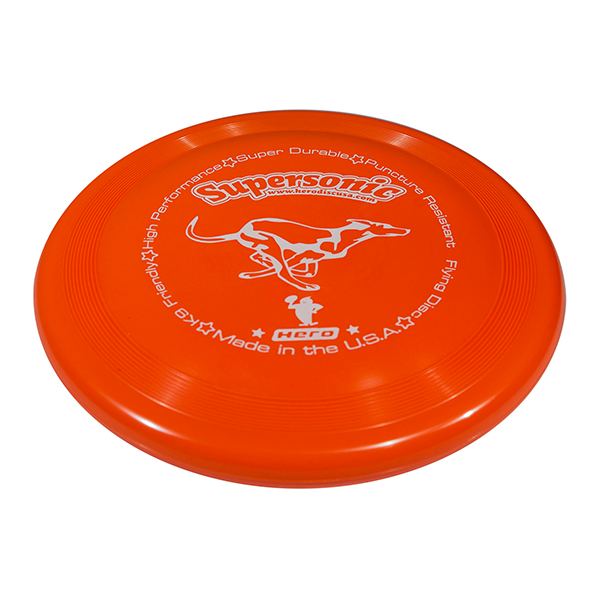 Hero supersonic taffy orange dog frisbee