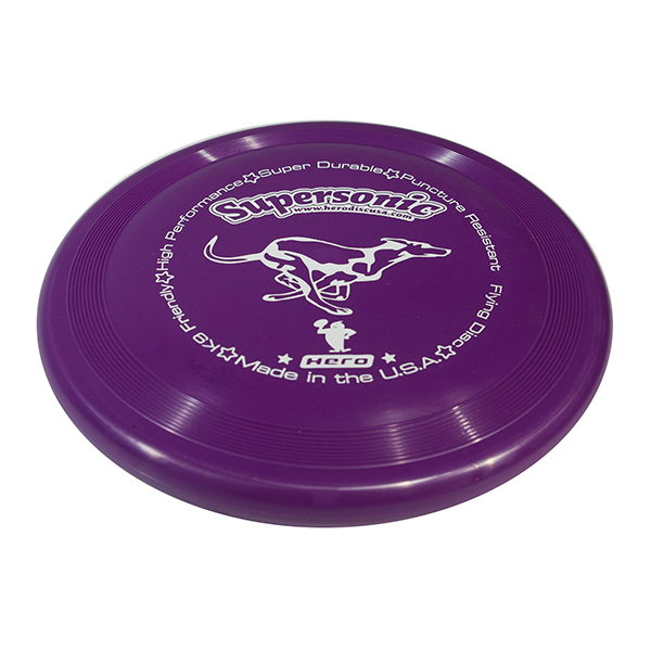 Hero supersonic taffy purple dog frisbee