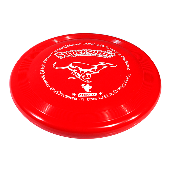Hero supersonic taffy red dog frisbee