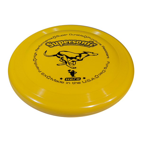 Hero supersonic taffy yellow dog frisbee