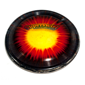 Super Hero 235 Ice Dye dog frisbee
