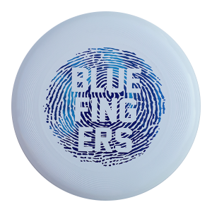 Frisbeewinkel – Ultimate clubdiscc Blue fingers