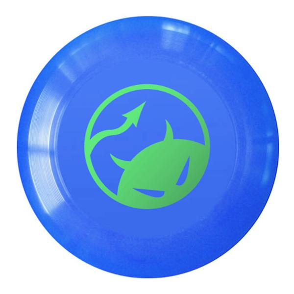Wedstrijdfrisbee logo blauw - groen