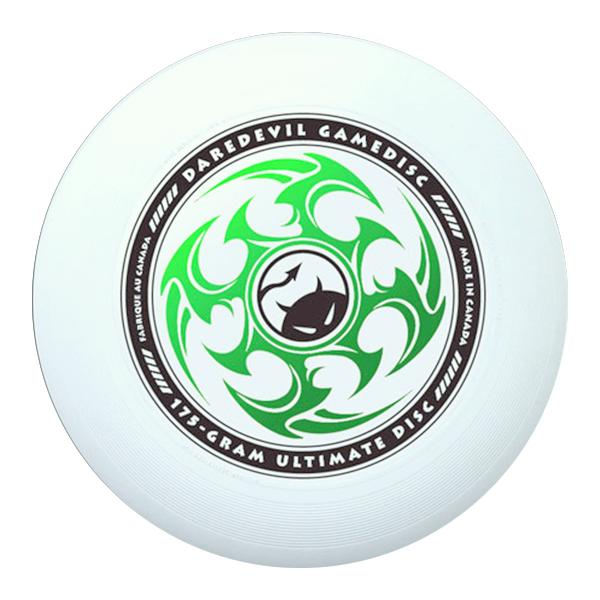 Wedstrijdfrisbee star wit - groen