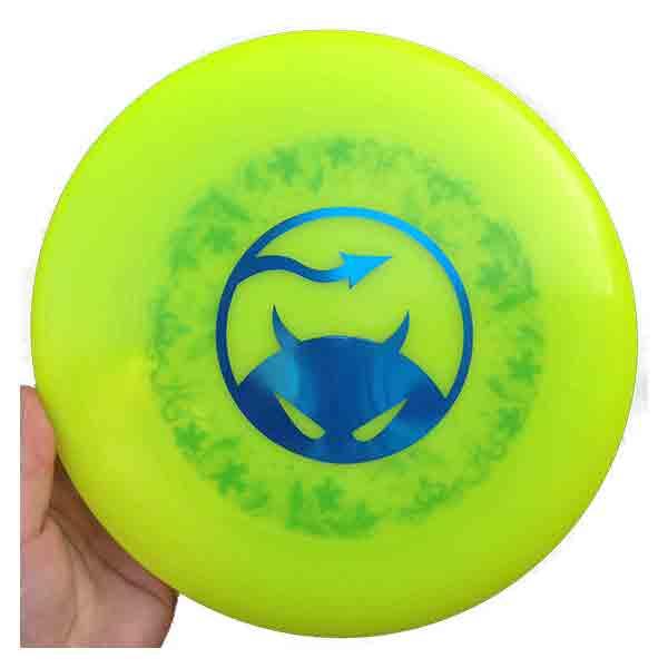 Daredevil wedstrijdfrisbee dark underprint sun/blauw/groen