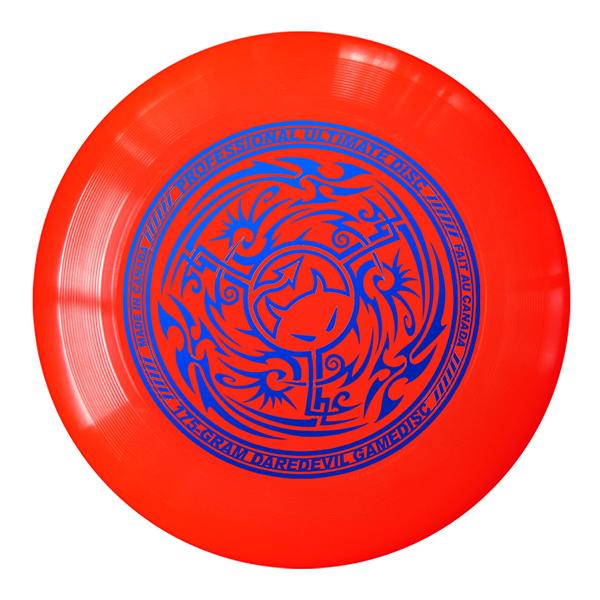 Wedstrijdfrisbee tribal Cherry-Blauw
