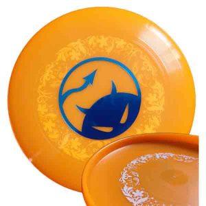 Daredevil wedstrijdfrisbee underprint oranje blauw wit