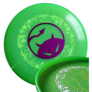 Daredevil wedstrijdfrisbee underprint lime/paars/wit