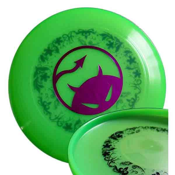 Daredevil wedstrijdfrisbee dark underprint Lime/paars/zwart