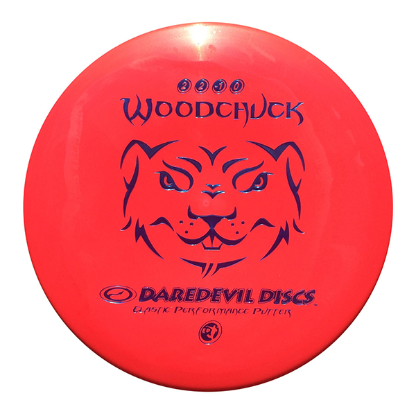 Daredevil Disc Golf Disc Flexible Putter EP Woodchuck Red
