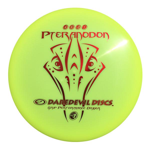 Daredevil Disc Golf Discs GP Pteranodon yellow midrange disc