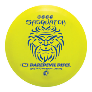 Daredevil Disc Golf Discs HP Sasquatch distance driver Yellow