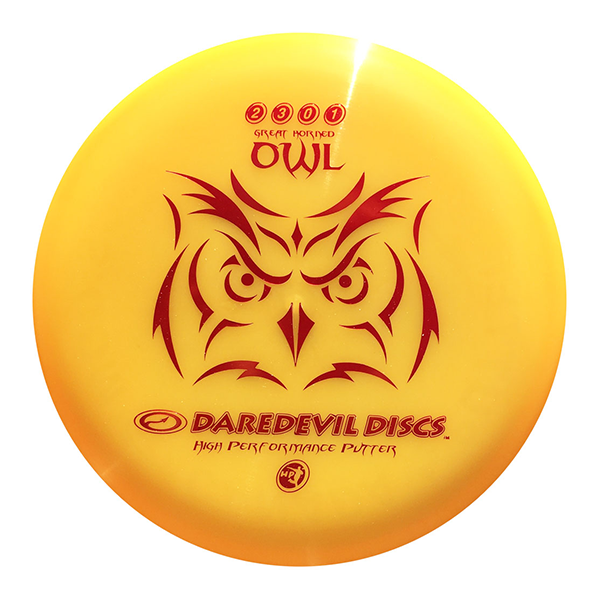 Daredevil Disc Golf Putter HP Owl Orange