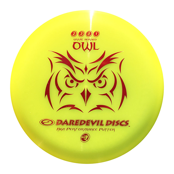 Daredevil Disc Golf Putter HP Owl Yellow