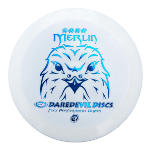 Daredevil Disc Golf distance driver frisbee kopen Flexible FP Merlin White