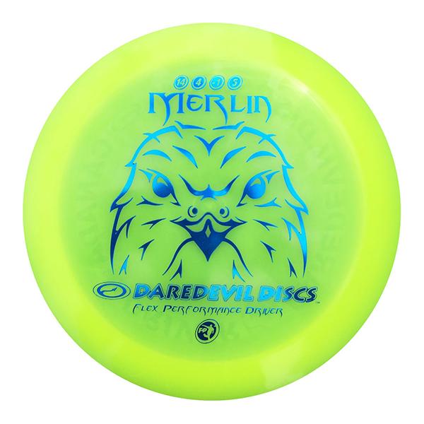 Daredevil Disc Golf distance driver frisbee kopen Flexible FP Merlin Yellow