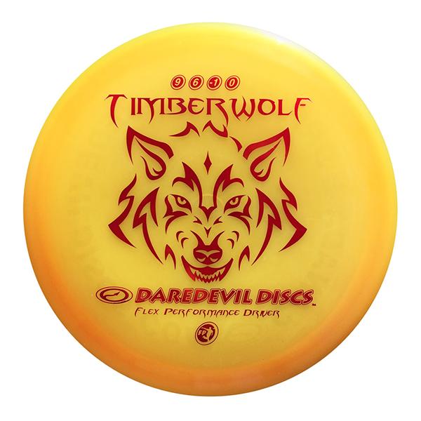 Daredevil Disc Golf distance driver frisbee kopen Flexible FP Timberwolf orange