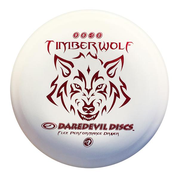 Daredevil Disc Golf distance driver frisbee kopen Flexible FP Timberwolf white