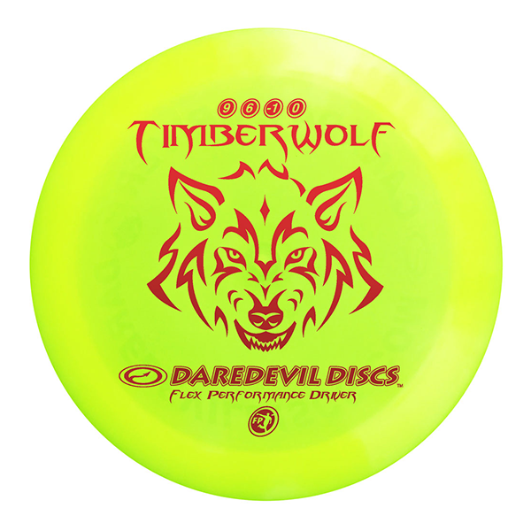 Daredevil Disc Golf distance driver frisbee kopen Flexible FP Timberwolf yellow