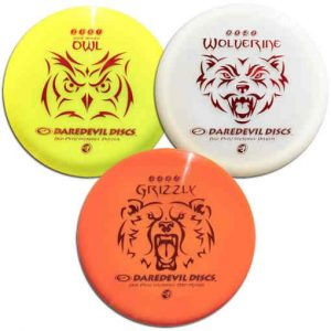 Daredevil_High_Performance_Disc_Golf_set_Owl_Wolverine_Grizzly