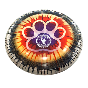 Dogfrisbee Super Hero 235 Ice Dye Paw Outline