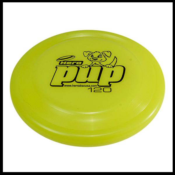 Hero pup Neon yellow Buy a dogfrisbee for small dogs kleine hondenfrisbee voor kleine hond