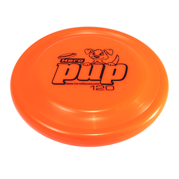 Hero pup orange Buy a dogfrisbee for small dogs kleine hondenfrisbee voor kleine hond
