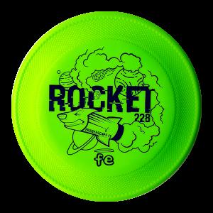 Rocket Dogfrisbee Frisbeescape Hondenfrisbee Lime goede frisbee voor de kinderen