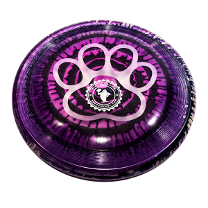 Super Hero 235 Ice Dye Paw Outline dogfrisbee