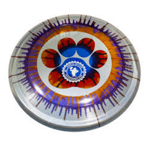 Supersonic Ice Dye 215 Circle Paw dogfrisbee