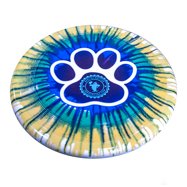 Superswirl Paw Dye Design outline stamp custom dogfrisbee