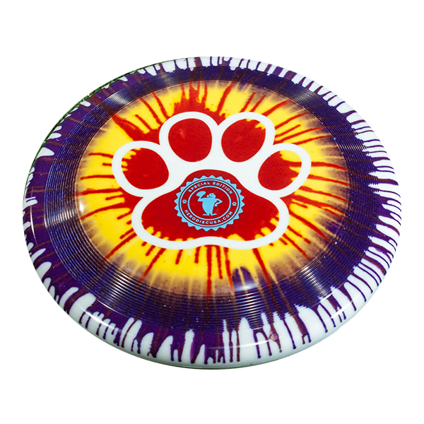 Superswirl Paw Dye Design outline stamp dogfrisbee custom stamp