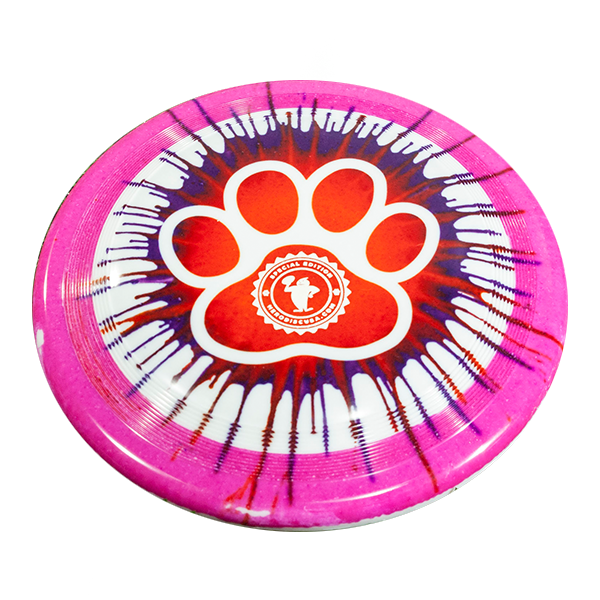 Superswirl Top Dye Paw Design outline stamp custom dogfrisbee
