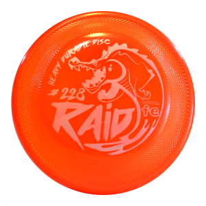 frisbeescape raid fluor orange competition dogfrisbee hard bite
