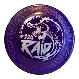 frisbeescape raid purple orange competition dogfrisbee hard bite