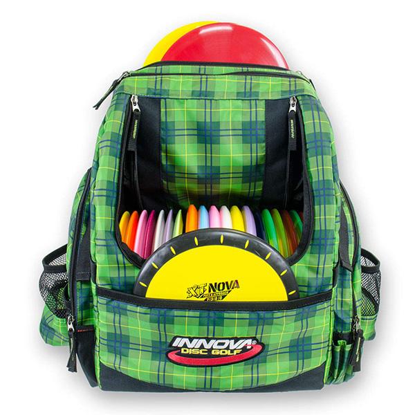 Innova-Hero-backpack-green-plaid-
