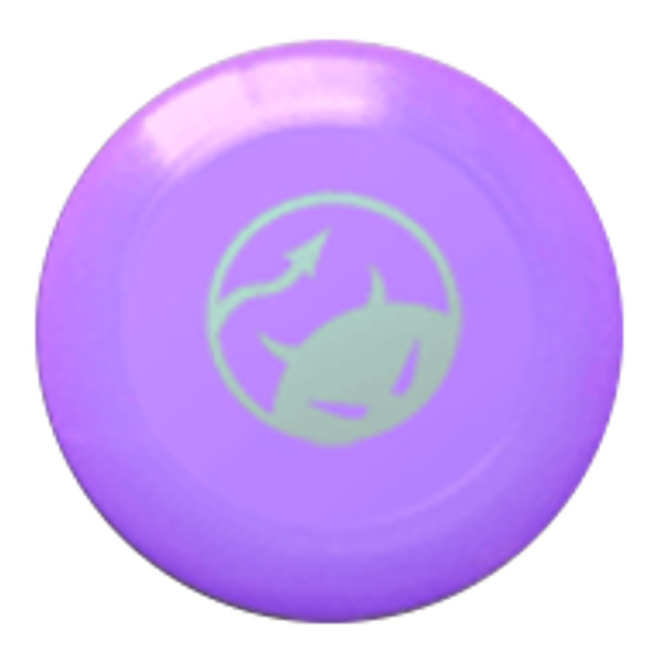 Daredevil wedstrijdfrisbee logo paars