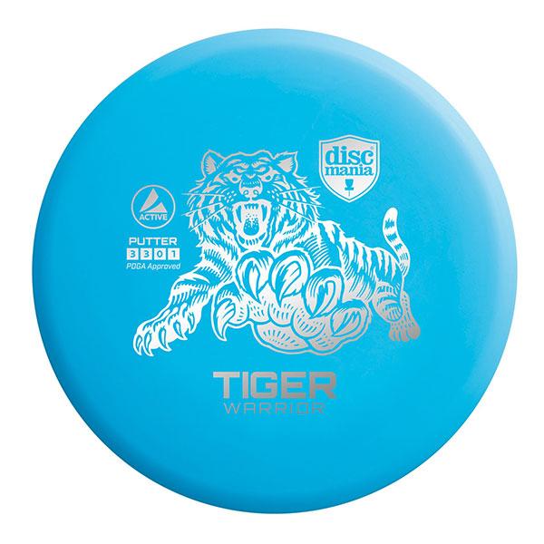 Discmania Tiger Warrior Putter blauw