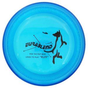eurablend bijtbestendige dogfrisbee blauw