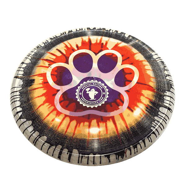 Frisbeewinkel-dogfrisbee-Superswirl-Top-Dye-Paw-outline-Design-stamp