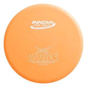 DX AViarX3 flat top overstable putter orange