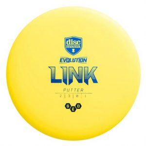 Discmania Evolution Geo Link Putter Yellow Buy Disc Golf Frisbee Discgolf Schijf Kopen Geel Frisbeewinkel