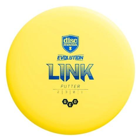 Discmania Evolution Geo Link Putter Yellow Buy Disc Golf Frisbee Discgolf Schijf Kopen Geel Frisbeewinkel
