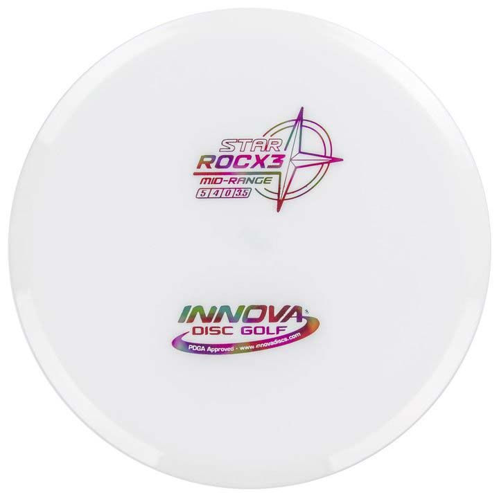 Innova Star RocX3 Midrange Extra Sturdy Roc White Buy Disc Golf Frisbee Straight Flight Reliable Frisbeewinkel Kopen Witte Schijf Discgolf